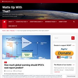 How much global warming should IPCC's next report predict? – Watts Up With That?