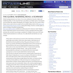 Power Line - The Global Warming Hoax: A Summary