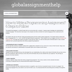How to Write a Programming Assignment? 6 Steps to Follow — globalassignmenthelp