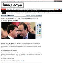 France : La dette globale atteint 8000 milliards d'euros, 380% du PIB