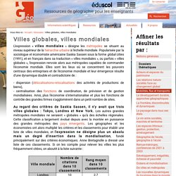 Globales / mondiales (villes)