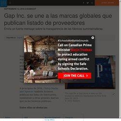 Gap Inc. se une a las marcas globales que publican listado de proveedores
