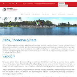 Click, Conserve & Care - Global Photography Contest