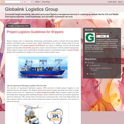 Globalink Logistics Group: Project Logistics Guidelines for Shippers