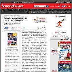 Sous la globalisation, le poids des territoires - Georges Benko et Bernard Pecqueur , article Géographie