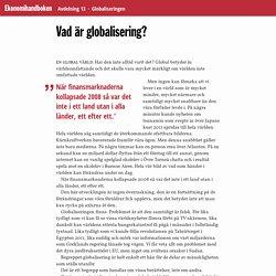 Vad är globalisering? · Ekonomihandboken
