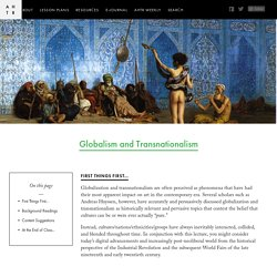 Globalism and Transnationalism