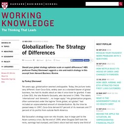 Globalization: The Strategy of Differences - HBS Working Knowledge - Harvard Business School