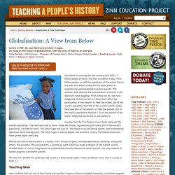 » Globalization: A View from Below Zinn Education Project