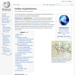 Outline of globalization