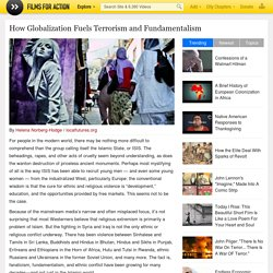 How Globalization Fuels Terrorism and Fundamentalism