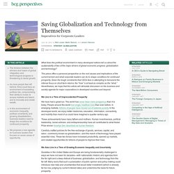 3.7.5 Saving Globalization and Technology from Themselves