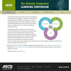 Globally Competent Learning Continuum - ASCD