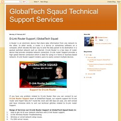 GlobalTech Sqaud Technical Support Services: D-Link Router Support