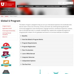 GlobalU - Learning Abroad - The University of Utah