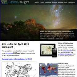 GLOBE at Night - Home page