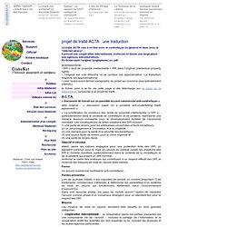 projet de traité ACTA : une traduction