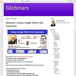 Globinars: Webinar: Using a single iPad in the classroom