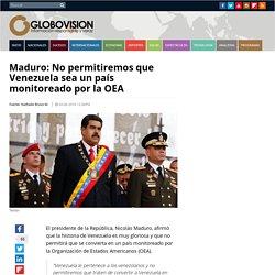 Posición de Nicolás Maduro: No permitimos intervención