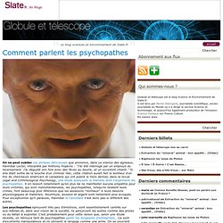 Comment parlent les psychopathes