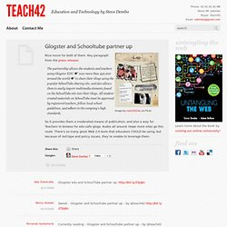 Glogster and Schooltube partner up