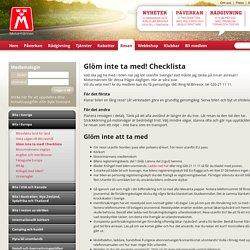 Glöm inte ta med! Checklista - Motormannen.se