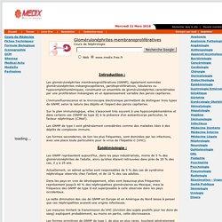 Glomérulonéphrites membranoprolifératives
