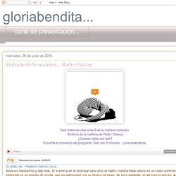 gloriabendita...: Sinfonía de la mañana... Radio Clásica