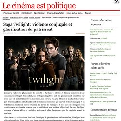 Saga Twilight : violence conjugale et glorification du patriarcat