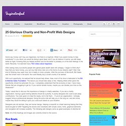 25 Glorious Charity and Non-Profit Web Designs