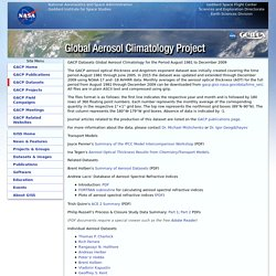 Global Aerosol Climatology Project