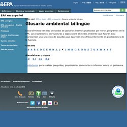 Glosario ambiental bilingüe