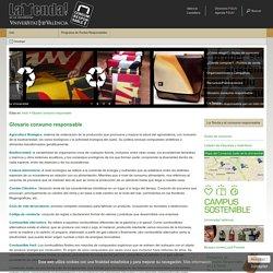 Glosario consumo responsable - Consum responsable - FGUV