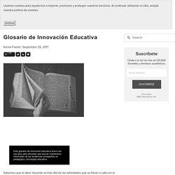Glosario de Innovación Educativa