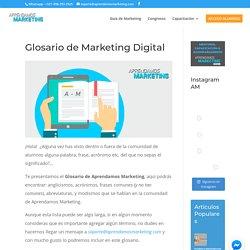 Glosario de Marketing Digital - Aprendamos Marketing