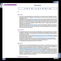 Glossaire pour carte heurisitique