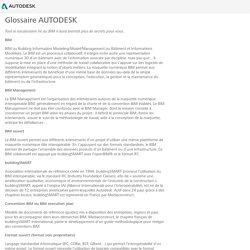 Glossaire AUTODESK