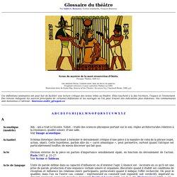 Glossaire du théâtre - Académie de Dijon
