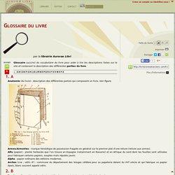 Glossaire du livre (Livres rares et anciens)