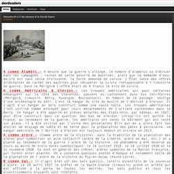 Glossaire d'A à Z des paysans et la Grande Guerre : derdesders