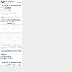 EUROPE - Glossaire peroxyde d'hydrogène
