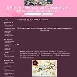Glossaire lié aux Arts Plastiques - L'Histoire des Arts au Collège Albert Camus du Plessis Trévise