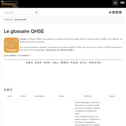 Glossaire QHSE