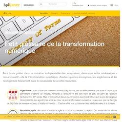 Petit glossaire de la transformation numérique