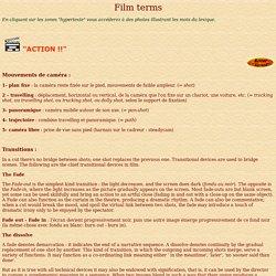 glossaire vocabulaire cinéma