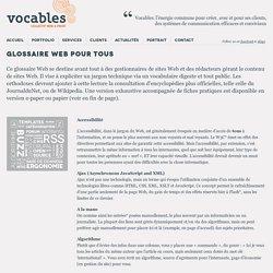 Glossaire Web pour tous