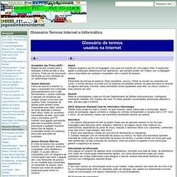 Glossário Termos Internet e Informática - jogosdinheirointernet