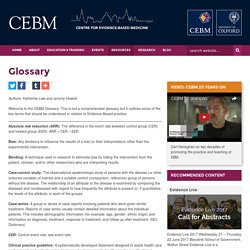 Glossary - CEBM