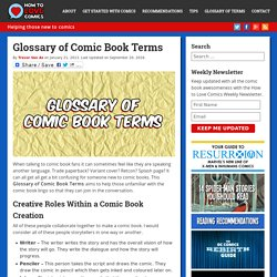 Glossary of Comic Book Terms - How To Love Comics