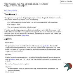 Org Glossary: An Explanation of Basic Org-Mode Concepts